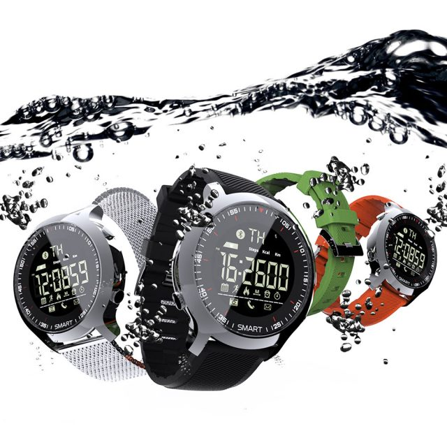 Professional Sports Round Shaped Waterproof Silicone Smart Watch