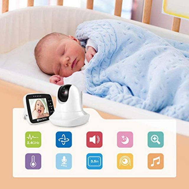 High Resolution Baby Monitor with Night Vision Remote Camera