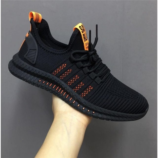 Men's Striped Breathable Sneakers