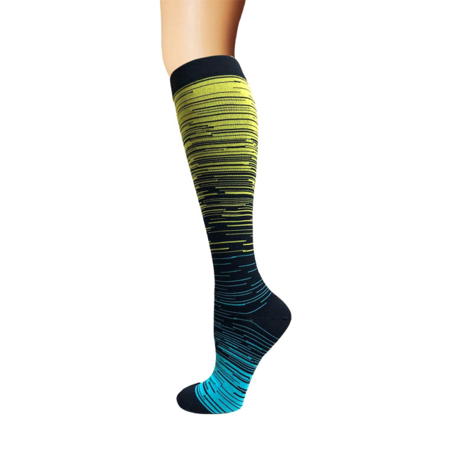 Colorful Knee-High Compression Cycling Socks
