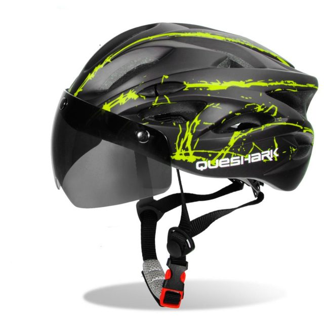 Lightweight Cycling Helmet with Built-in Goggles