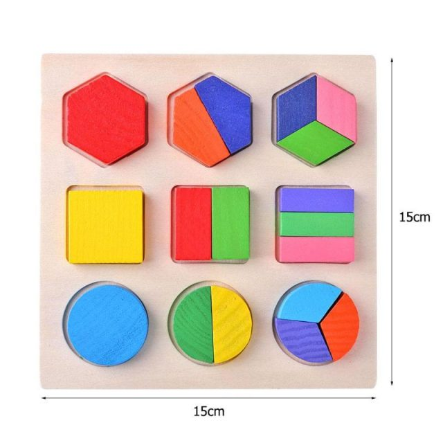 Geometric Educational Wooden Puzzle Toy