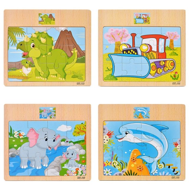Educational Wooden Puzzles for Kids