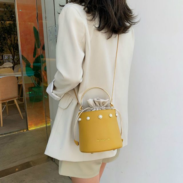 Women's Pearl Cylinder Bag