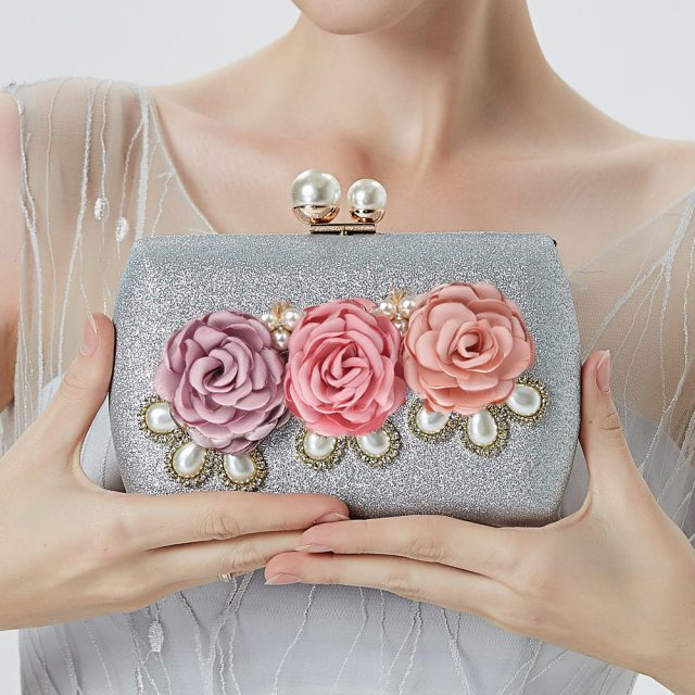 Women's Handmade Floral Mini Evening Bag
